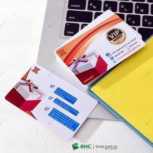in thẻ vip mua sản phẩm