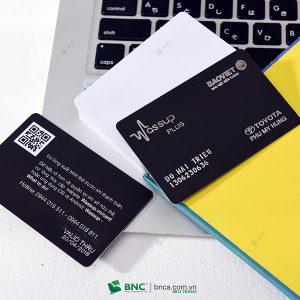 in thẻ bảo hành toyota