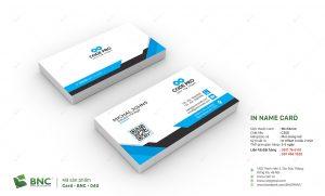 quy trình in card visit